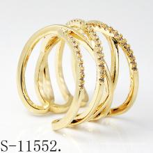 Ювелирные изделия персонализированный дизайн стерлингового серебра 925 женщин кольца с золотым напылением (с-11552)