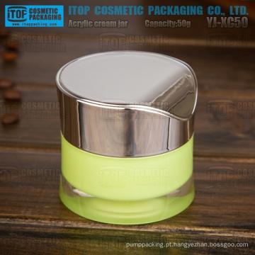 YJ-XC50 50g simples elegante nova alta qualidade design redondo frasco acrílico de 50g de cintura fina