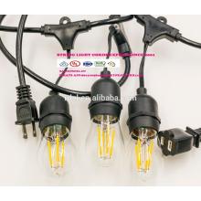 SL-36 Australia SAA plug socket IP44 LED string lights lamp holder power cord