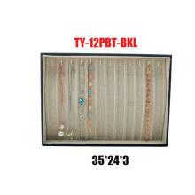 12 Slot Leatherette Pulseras Bandeja de visualización (TY-12PBT-BKL)
