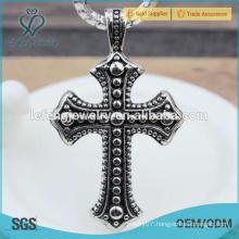 Wild popular custom black stainless steel cross pendant for men