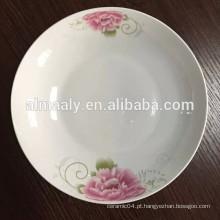 Placas de prato de frutas de porcelana cerâmica decorativa