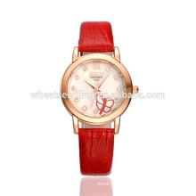 La última mano increíble del reloj de la muchacha coreana del cuarzo de la mariposa del estilo exquisito