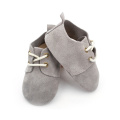 Real Suede Kulit Grey Baby Oxford Shoes Wholesale