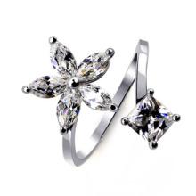 Venda Por Atacado Alibaba Produtos Mais Vendidos Exquisite diamante de floco de neve anel aberto