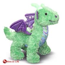Dragón encantador promocional de encargo de la felpa