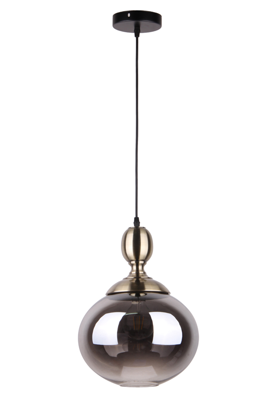 Grey Pendant Glass Lamp