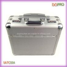 Silver Pilot Case High Quality Diplomat Aluminum Trolley Case (SATC004)