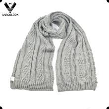 Mujeres de invierno acrílico cable de punto de la bufanda de patrón