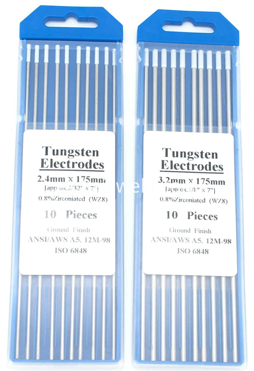 Zirconiated Tungsten Needle Wz8 3 2mm X 175mm