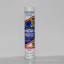 Tube cosmétique en plastique de 100 ml avec capuchon rétractable