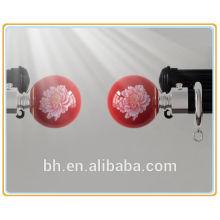 high quality elegant metal curtain rod accessory finial