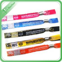 Bracelet tissé coloré de tissu d'événement de polyester de festival