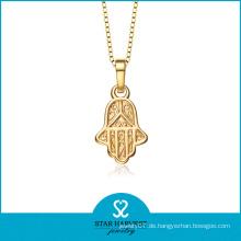 Religiöses Gold überzogene Hamas-Hand-hängende Halskette (SH-0169N)