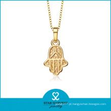 Religiosos banhado a ouro Hamas mão pendente colar (SH-0169N)
