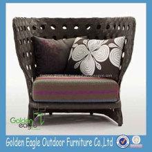 Chaise de sofa haut de dos de style rustique européen de rotin