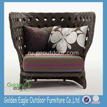 European Rustic Style Rattan High Back Sofa Chair