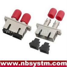 SC / PC - ST / PC HYBIRD Adaptador dúplex monomodo de metal