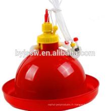 Bol de fontaine d'eau de poulet et mangeoires et abreuvoirs de poulet en plastique