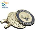 Logotipo personalizado de Metal de alta calidad magnética Golf Ball Marker Hat Clip
