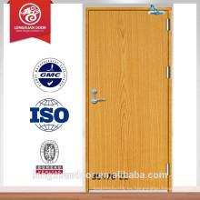 BS puerta de fuego de madera estándar ignífugo 30-120min puerta fuego de madera nominal puerta