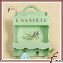 Зеленая кухня деревянная вешалка для полотенец