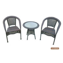 Stock used wicker furniture Bistro Set Accept Min Order