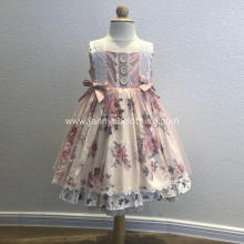 wholesale baby girls fall printed frocks dress