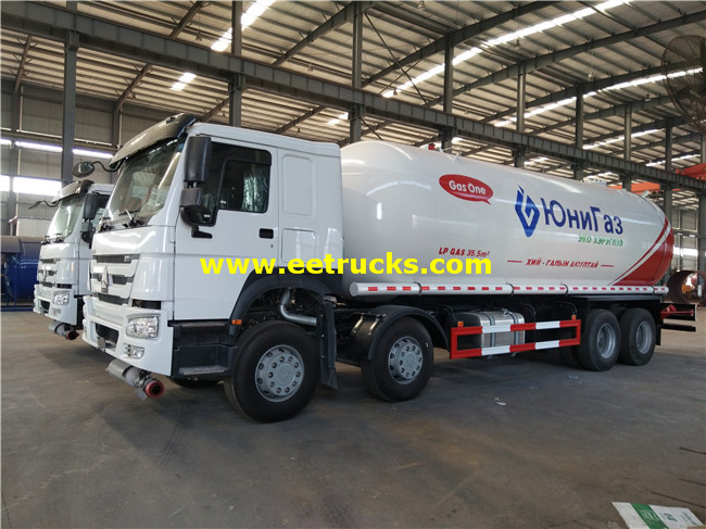 12 Wheel LPG Transportation Trucks
