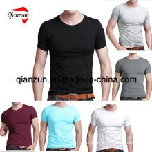 Пользовательские хлопковые мужские футболки (ZJ059)