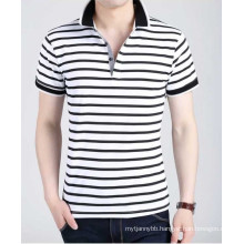 Three Colors Stripe Fashion Cotton Hot Wholesale Top Quality Men Polo T Shirt