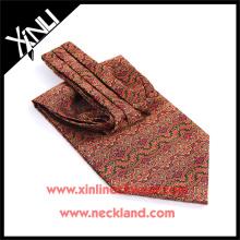 Cravats da cópia de tela do poliéster do fabricante de China para homens Ascot feito sob encomenda