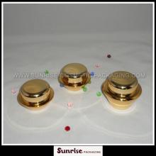 15g 30g 50g soucoupe or brillant forme acrylique conteneur pour Sk