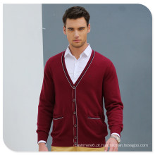Atacado Botão Cardigan Estilo 100% Man Cashmere Sweater
