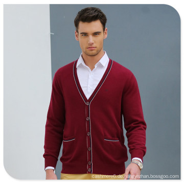 Großhandel Button Cardigan Style 100% Man Cashmere-Pullover