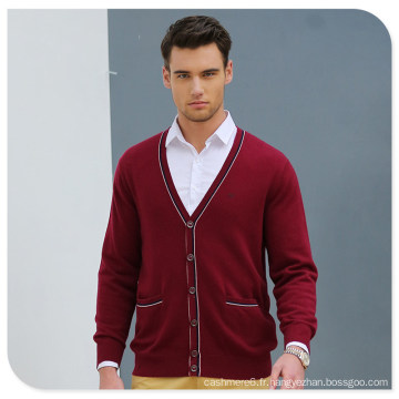 Gros bouton bouton style 100% homme pull en cachemire