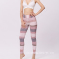Bequeme Spandex Funky Fitness Stripe Frauen Yoga Leggings