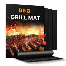 40cm*33cm 0.2mm reusable easy to clean PTFE grill bake nonstick bbq mat