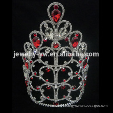 Wholesale fashion red crystal women tiaras crowns