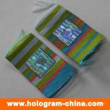 Anti-Counterfeiting Sicherheit Hologramm Aufkleber für Stoff