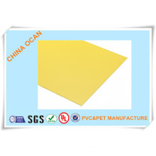 Rigid Yellow Matte PVC Sheet for Displaying