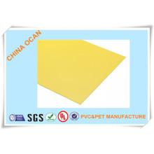 Folha de PVC fosca amarela para capa de ligação