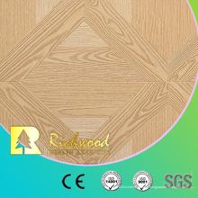 Plancher en bois en bois de stratifié de chêne blanc de relief de ménage de 12.3mm AC4
