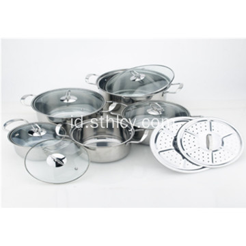 Peralatan Masak Gaya Korea Stainless Steel Set Grosir