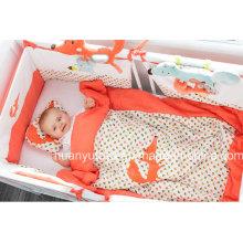 Fuente de fábrica del sistema del lecho del bebé (almohadilla, edredón, saco de dormir)