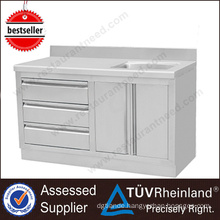 China Best Customized SS201/304 Stainless Steel Cabinet With Sink