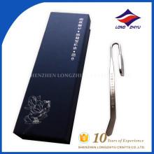 Le logo personnalisé remporte le signet de gravure en métal des ventes en Chine