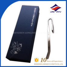 Custom logo awards China top sales metal engrave bookmark