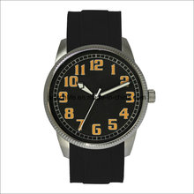 Arm Simple Rubber Stainless Steel Men Wrist Watch