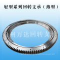 Slewing bearing for truck mounted crane with external gear